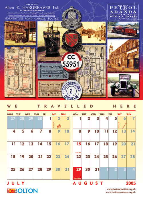 Bolton Revisited Calendar 2005