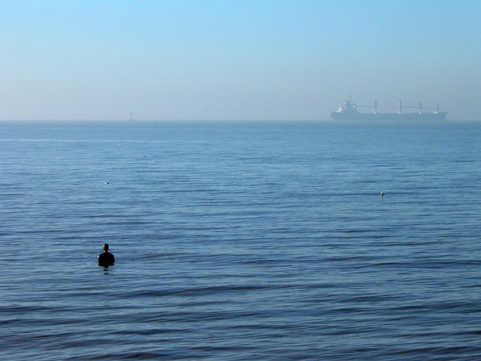 Gormley sculptures, Crosby