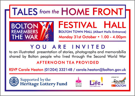 A6 Invitation - Tales from the Home Front