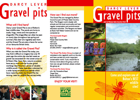 A4 Leaflet for Darcy Lever Gravel Pits Action Group