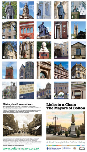 Links in a Chain - The Mayors of Bolton town centre history trail leaflet